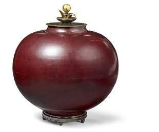 Kresten Bloch, Knud Andersen: A large stoneware lid jar