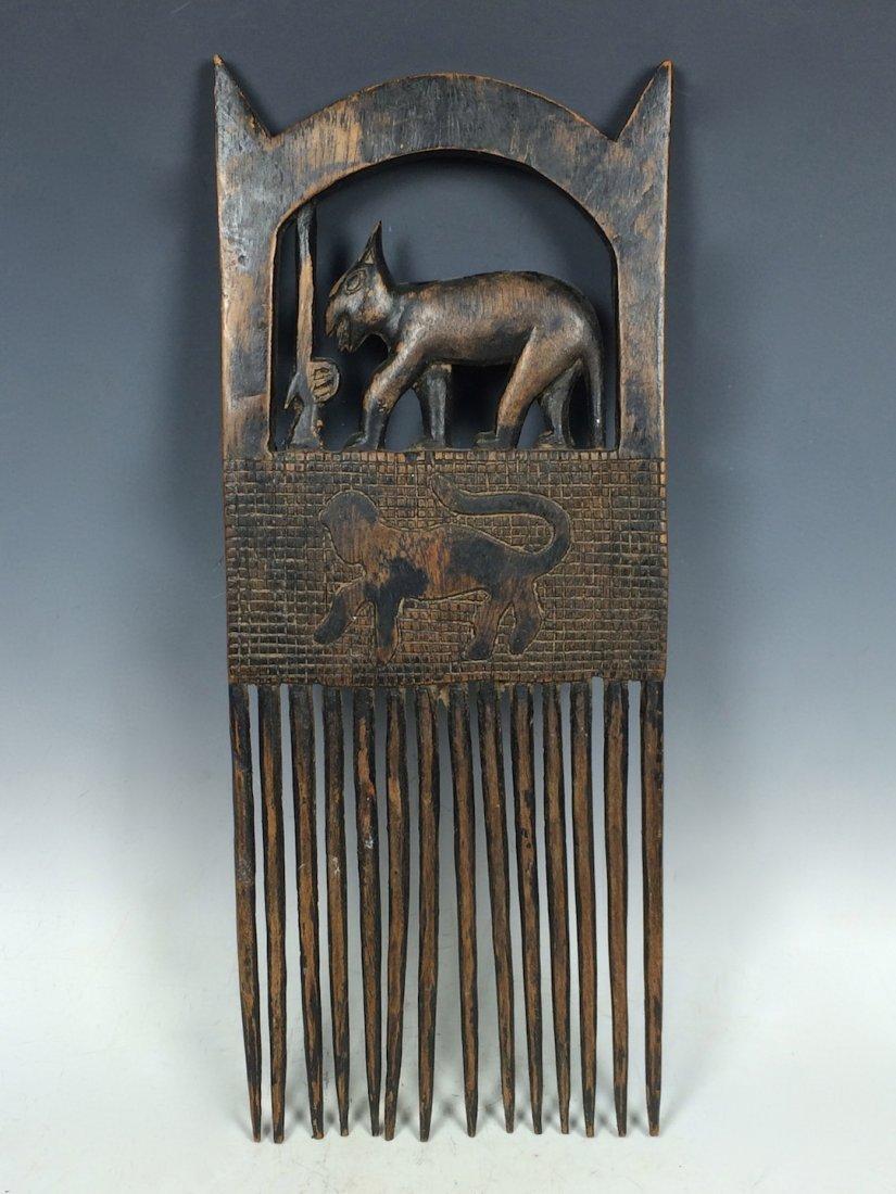 Bamana Wood Comb - 3