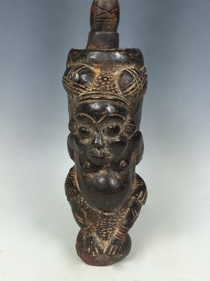 Terracotta Bamileke Pipe - 2