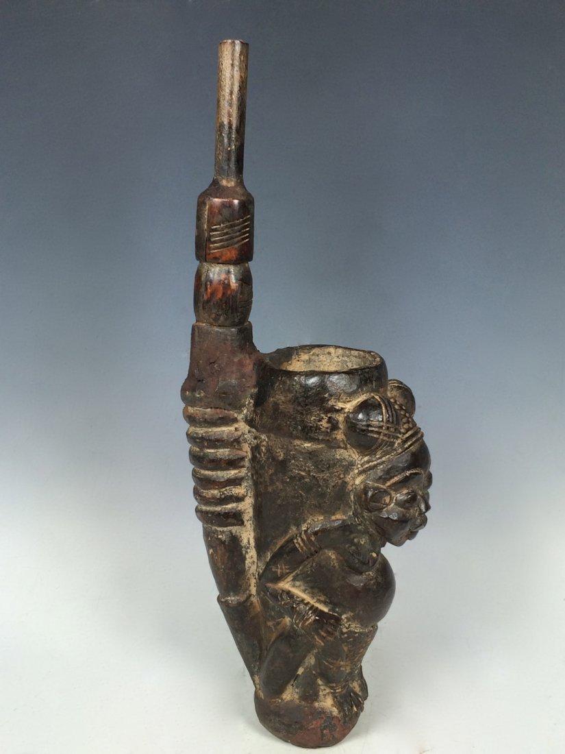 Terracotta Bamileke Pipe - 3