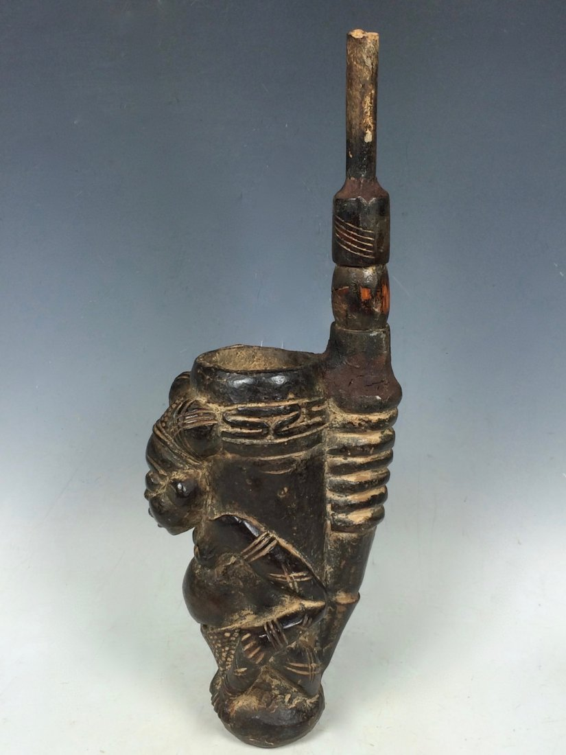 Terracotta Bamileke Pipe - 4