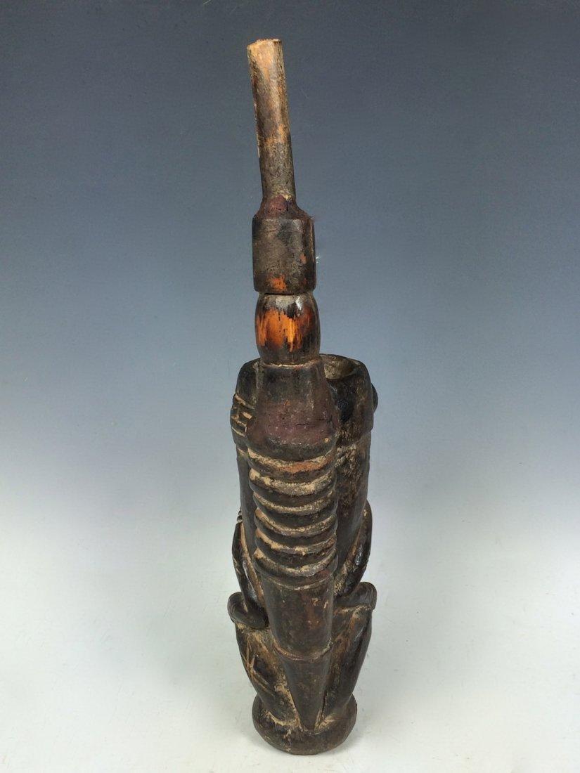 Terracotta Bamileke Pipe - 5