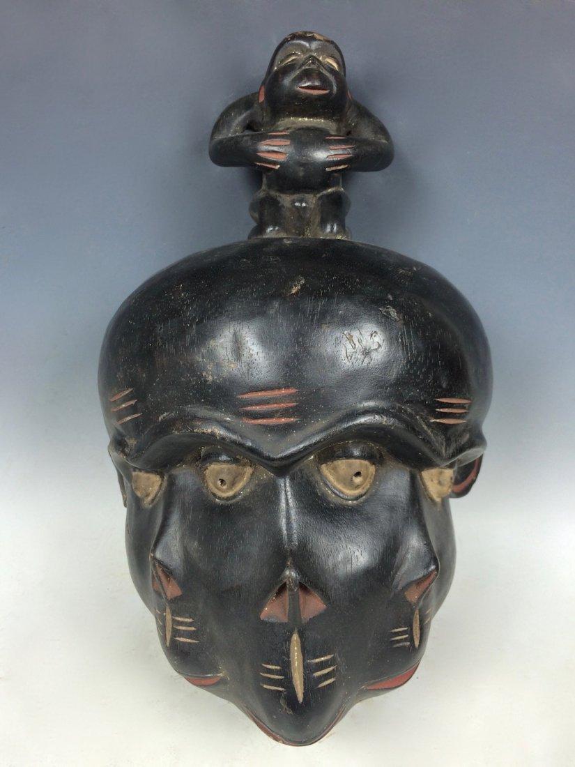 Triple Face Bulu Mask