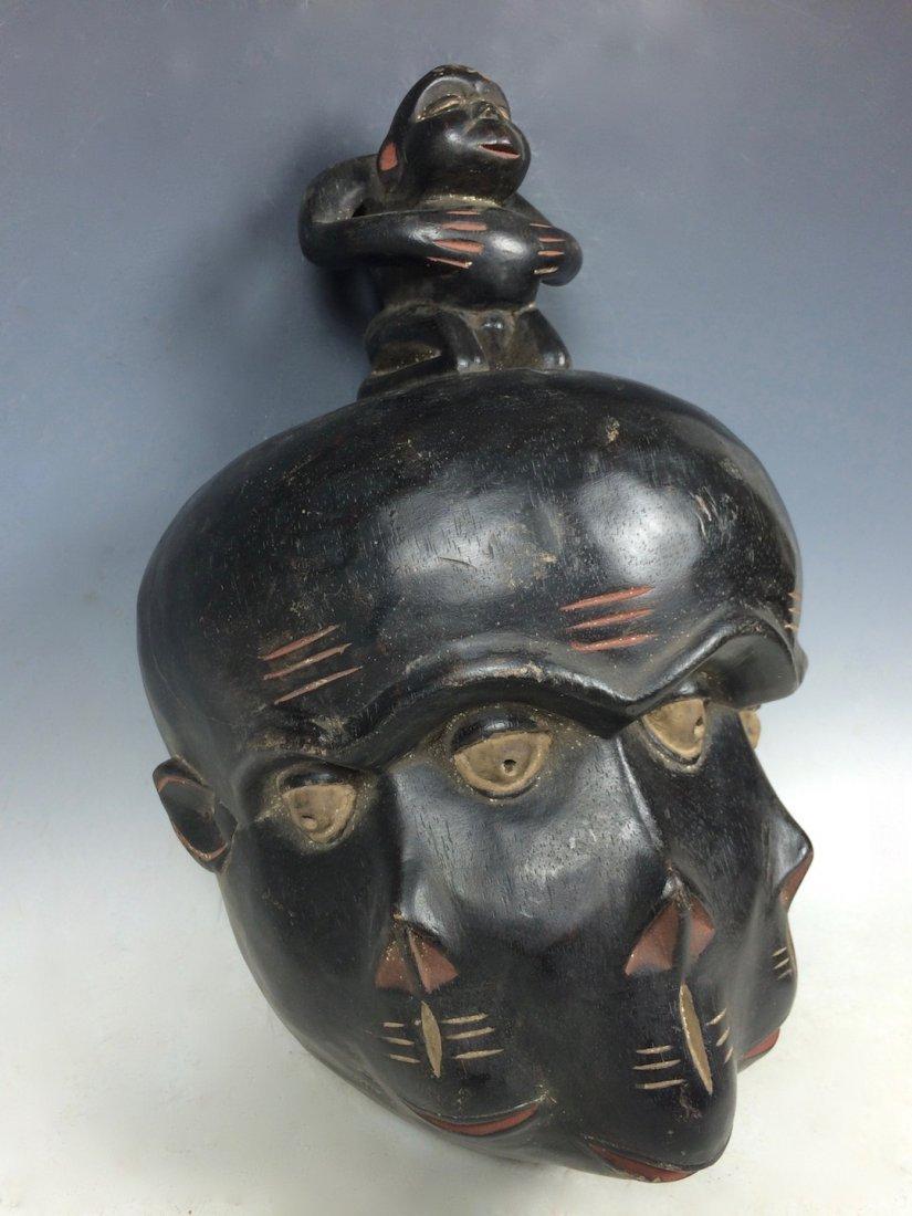 Triple Face Bulu Mask - 3
