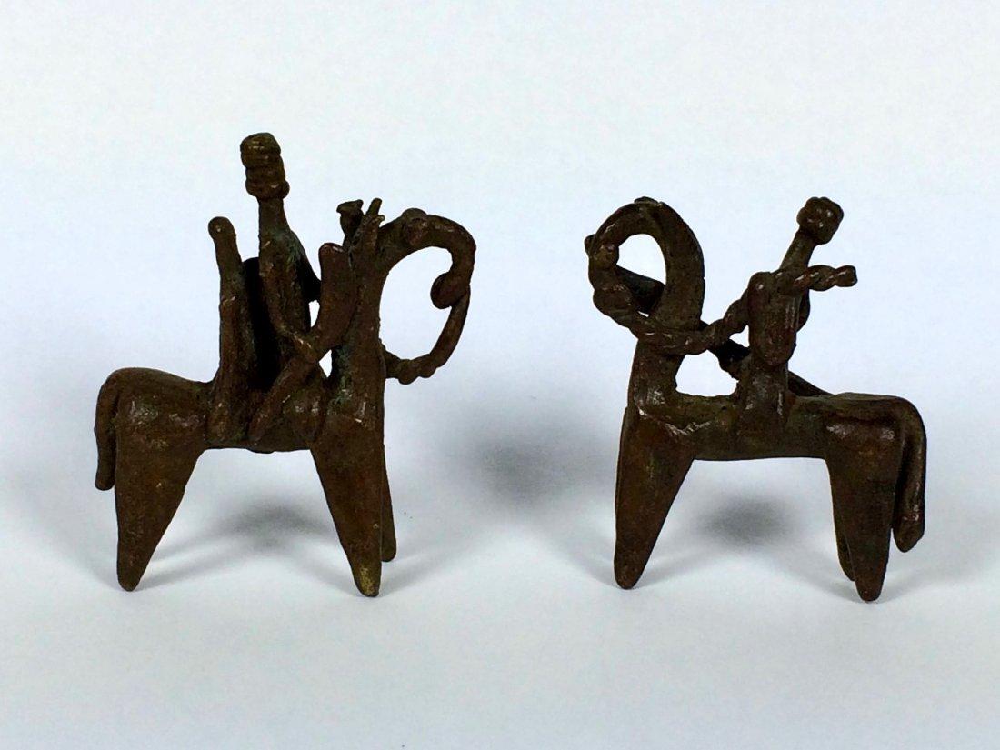 Pair of Bronze Horseman