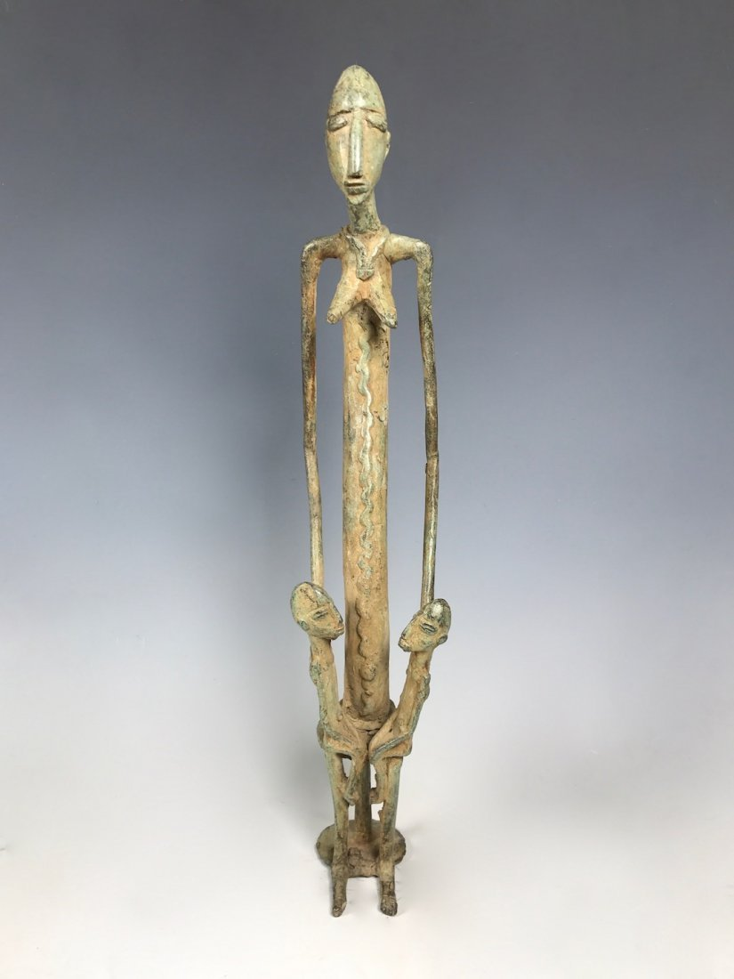 Female Dogon Bronze Statue