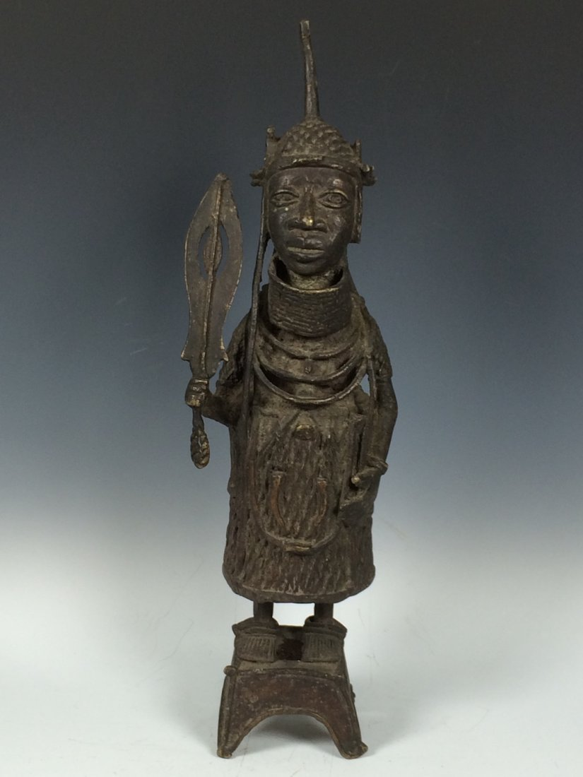 Large Benin Bronze Warrior
