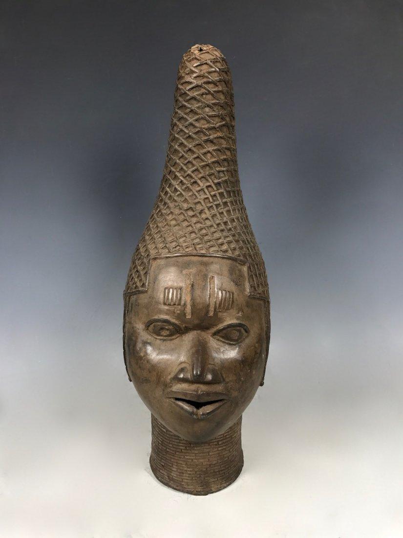 Benin Bronze Oba Head