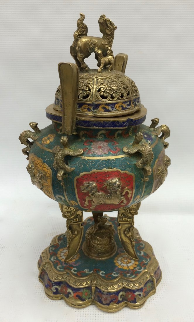 Cloisonne Incense Burner - 5