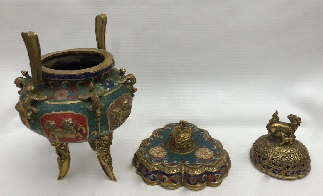 Cloisonne Incense Burner - 6