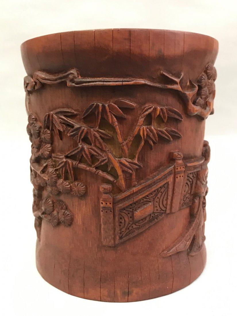 Bamboo Brushpot - 5