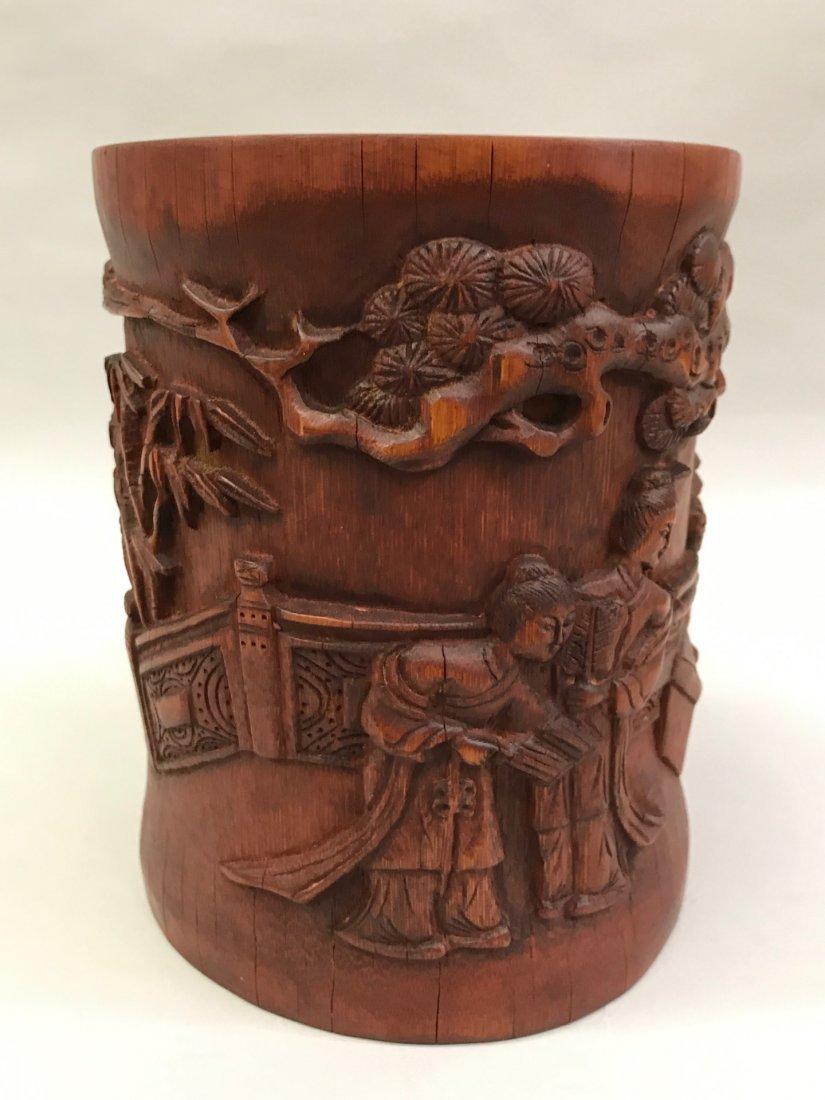 Bamboo Brushpot - 6