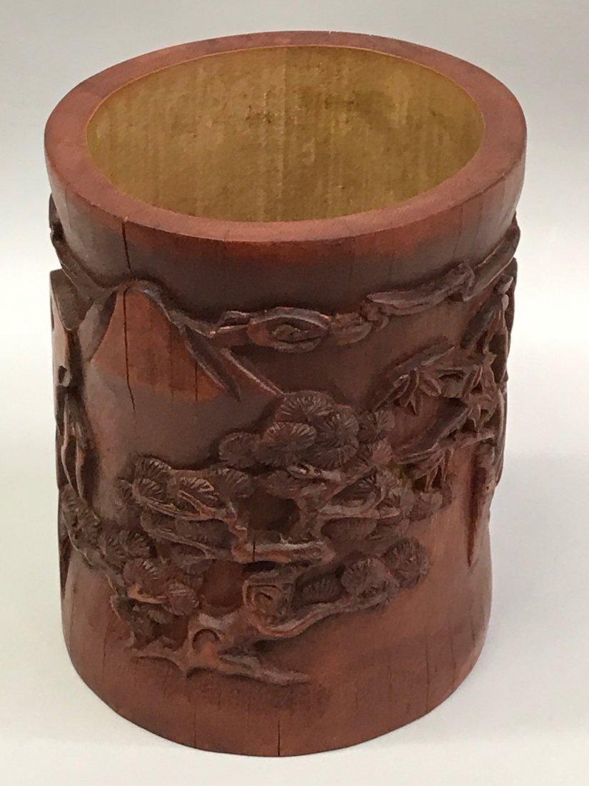 Bamboo Brushpot - 8