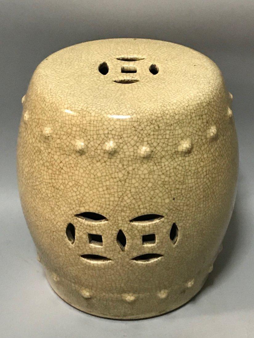 Crackled Porcelain Stool - 2