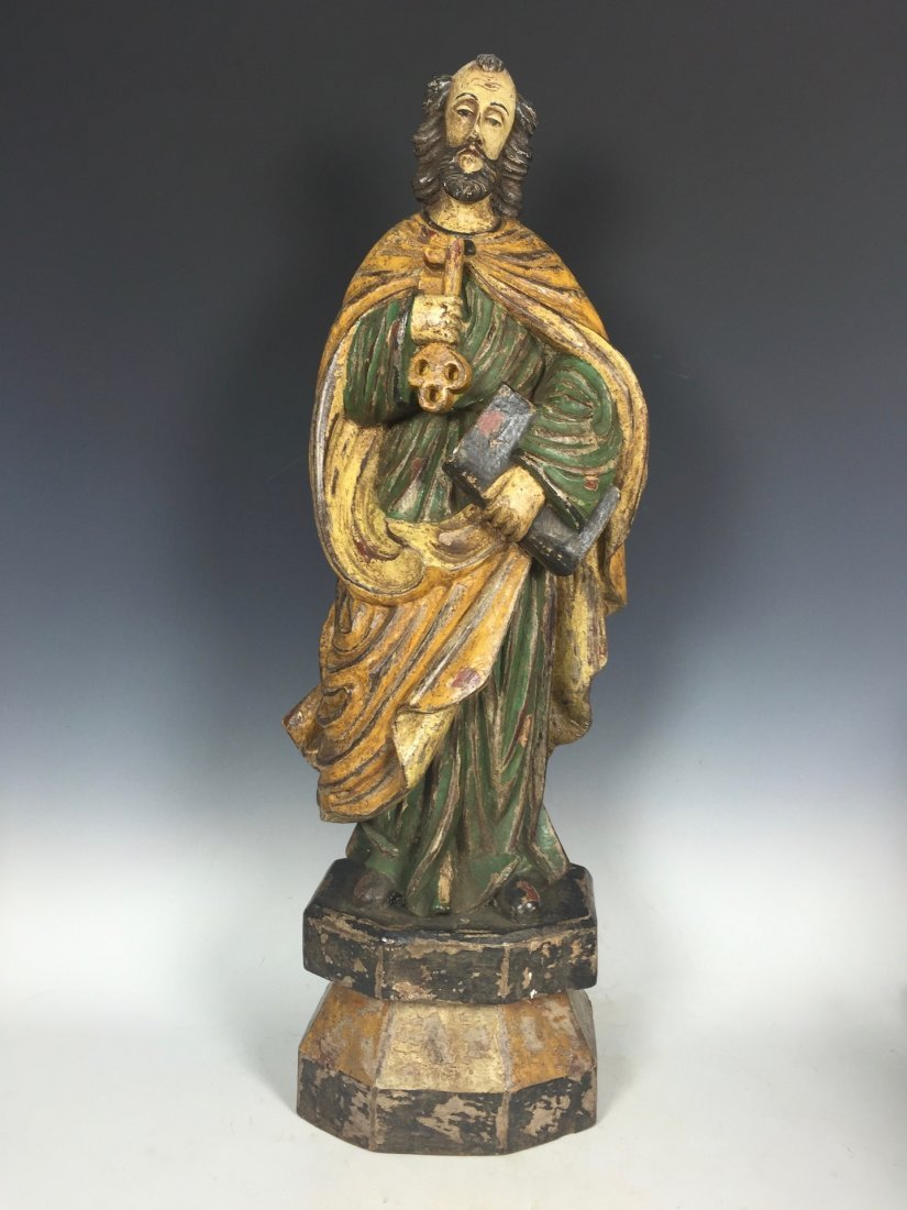 Carved Wood Saint Peter