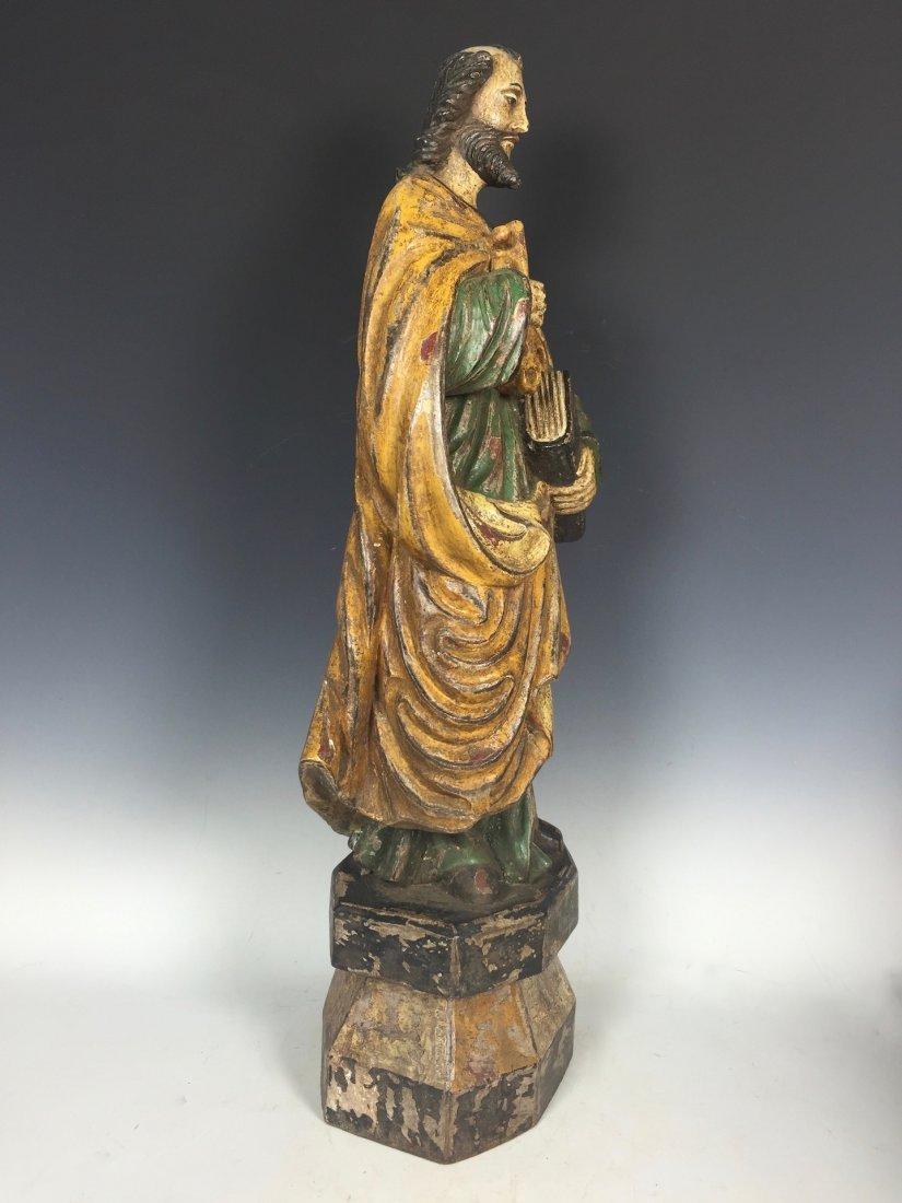 Carved Wood Saint Peter - 2