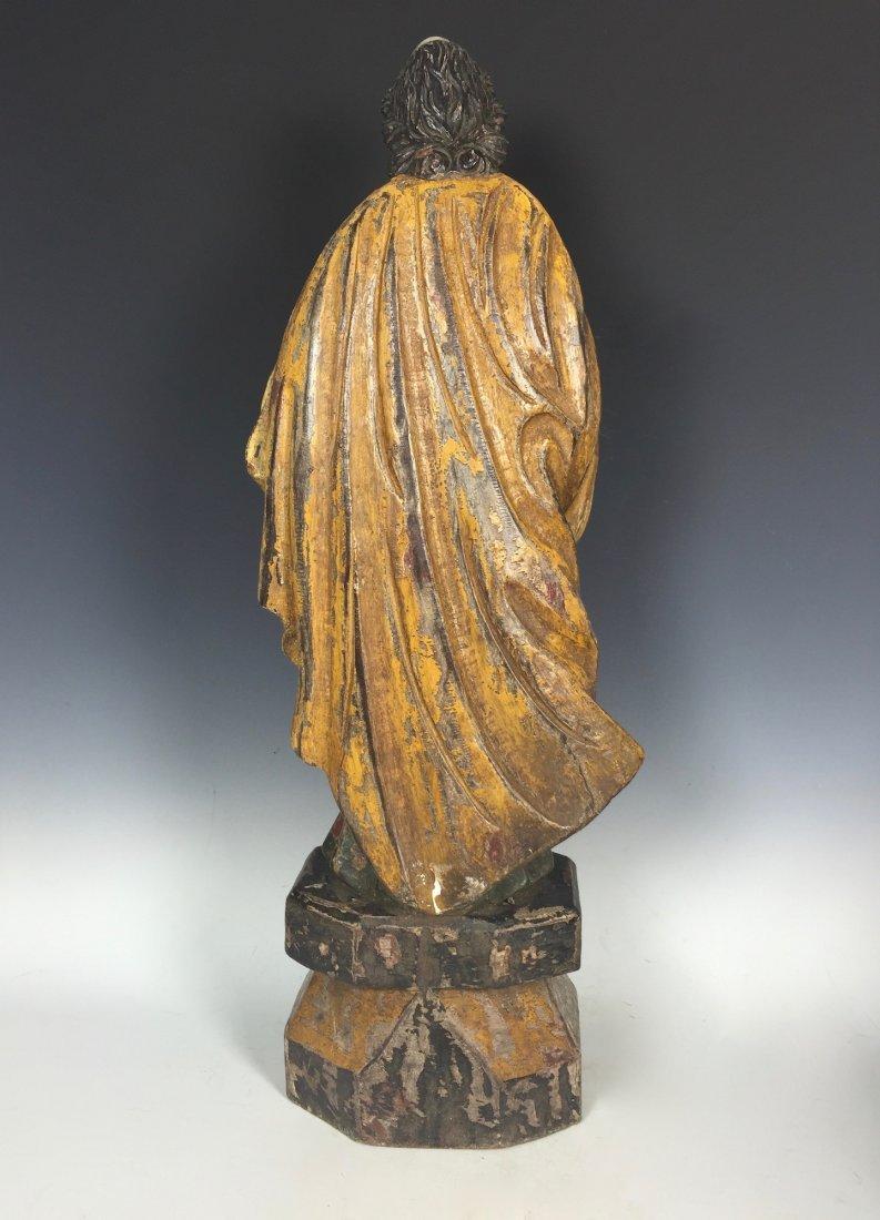 Carved Wood Saint Peter - 3