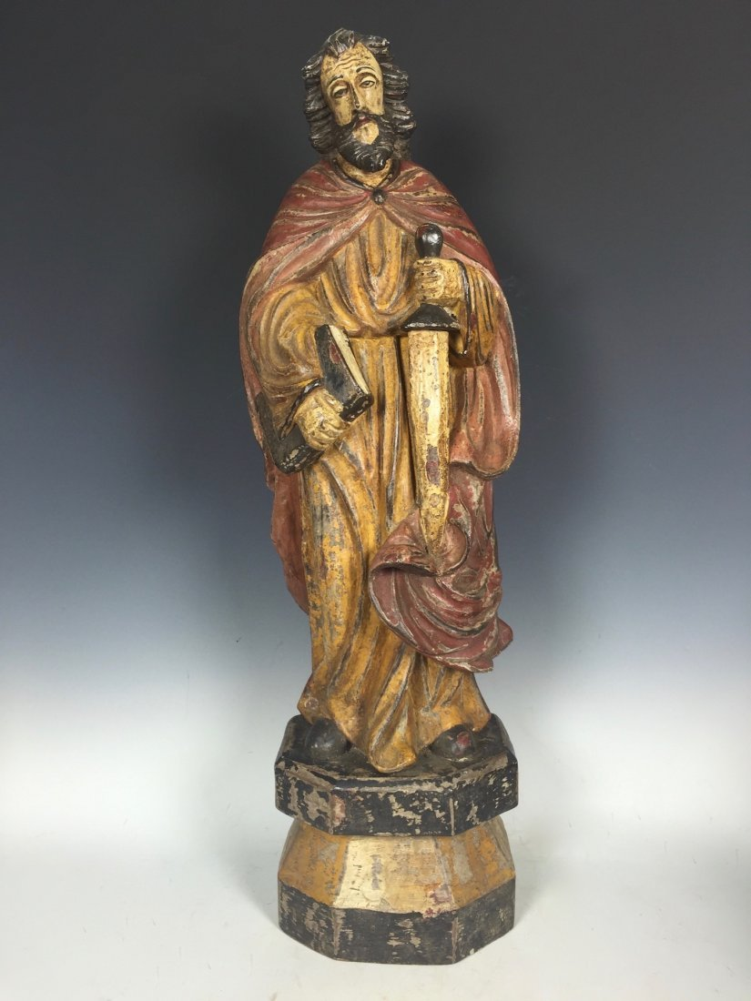 Carved Wood Saint Bartolomew