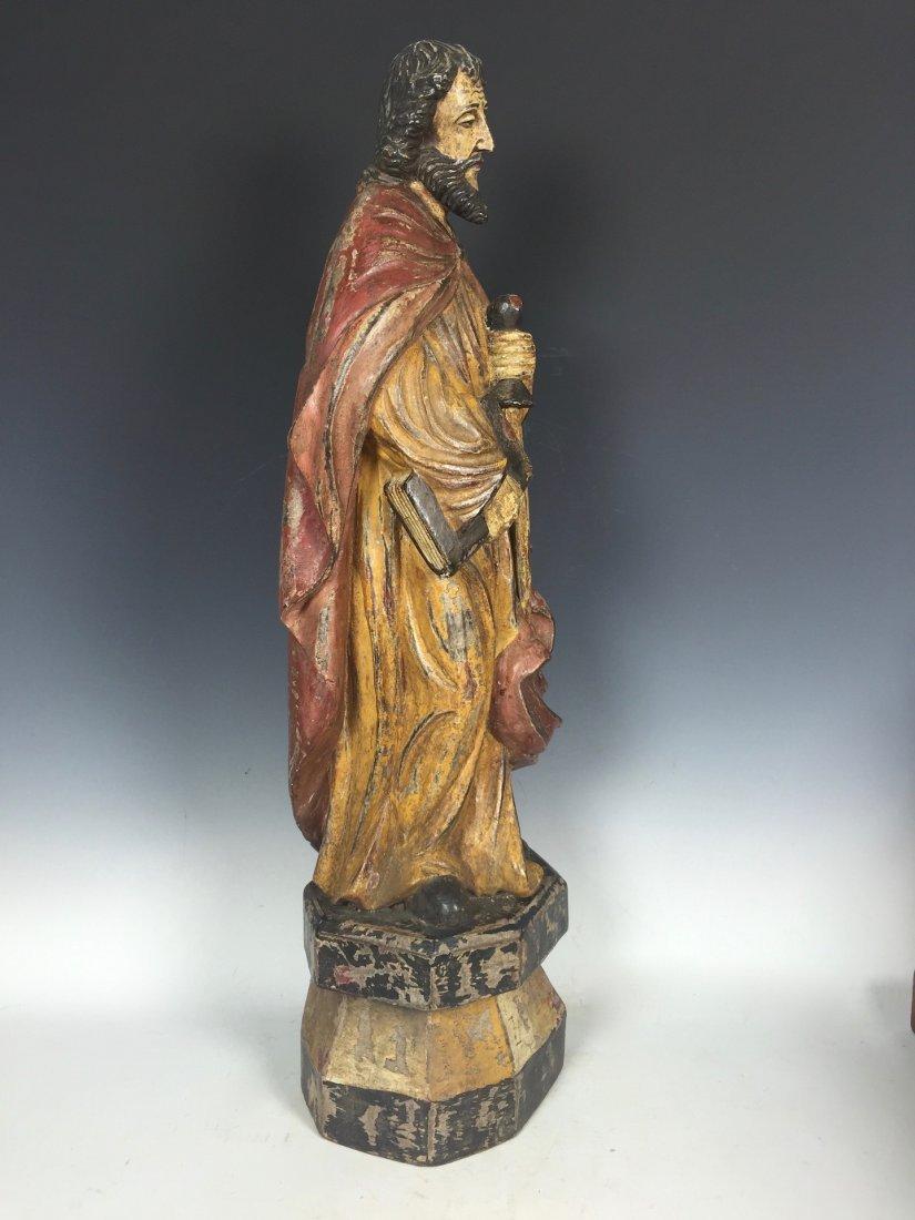 Carved Wood Saint Bartolomew - 3