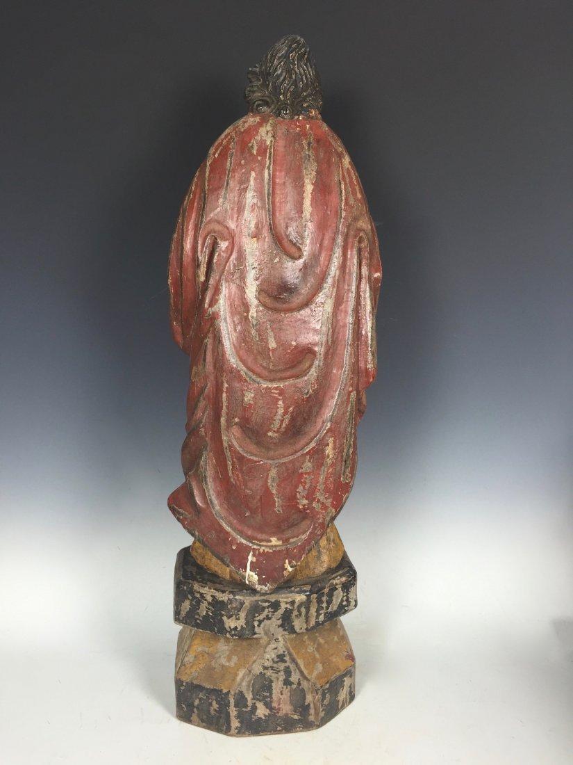 Carved Wood Saint Bartolomew - 4