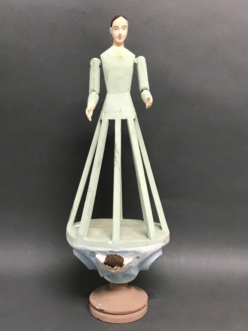 Carved Wood Mannequin Cage Doll-Bastidor