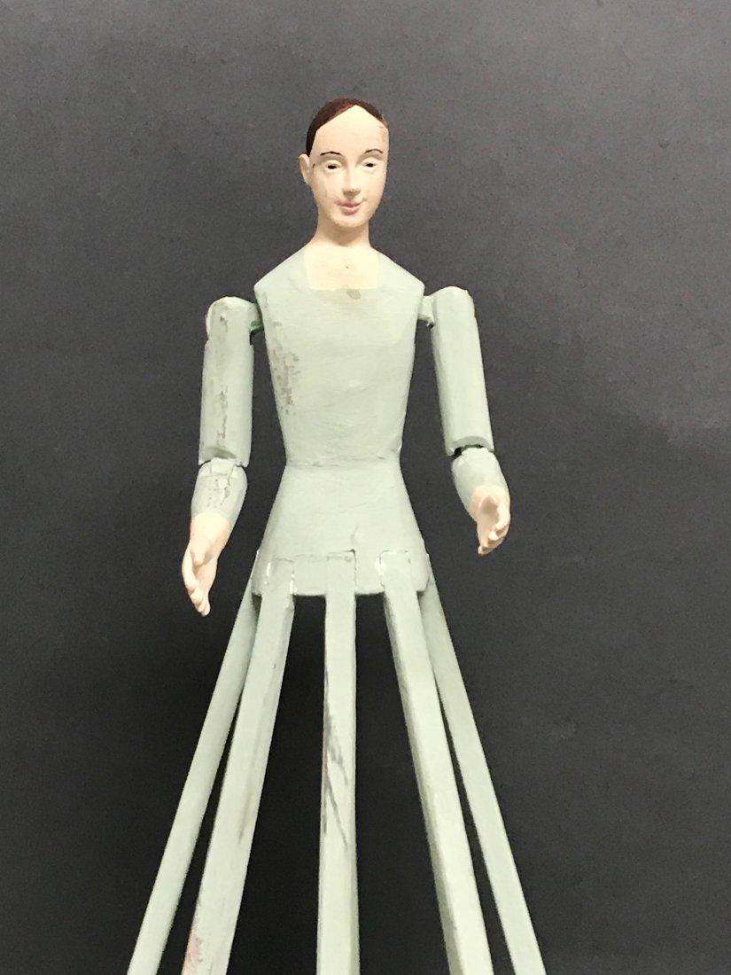 Carved Wood Mannequin Cage Doll-Bastidor - 2