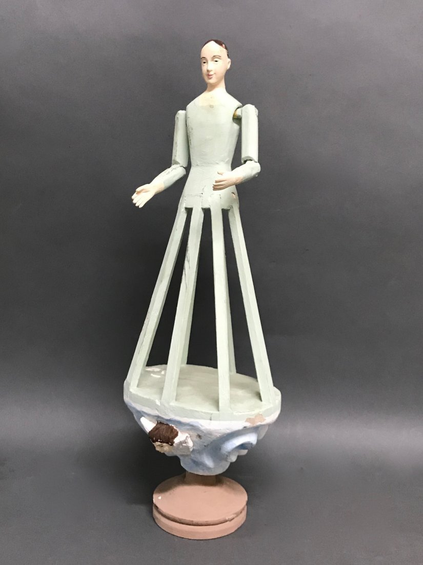 Carved Wood Mannequin Cage Doll-Bastidor - 4
