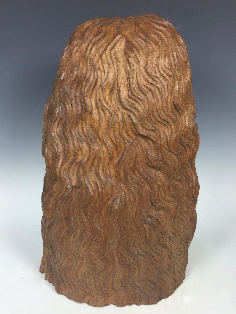 Carved Wood Head Of Jesus Christ - 4