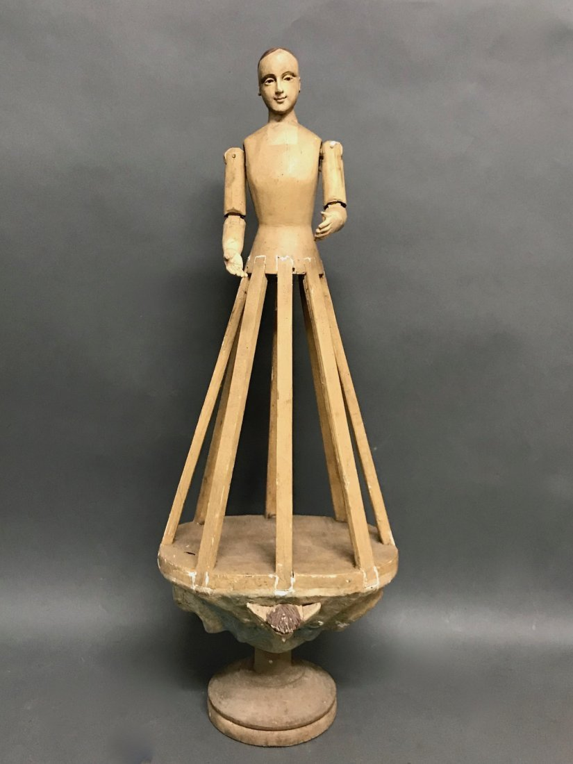 Carved Wood Mannequin Cage Doll-Bastidor