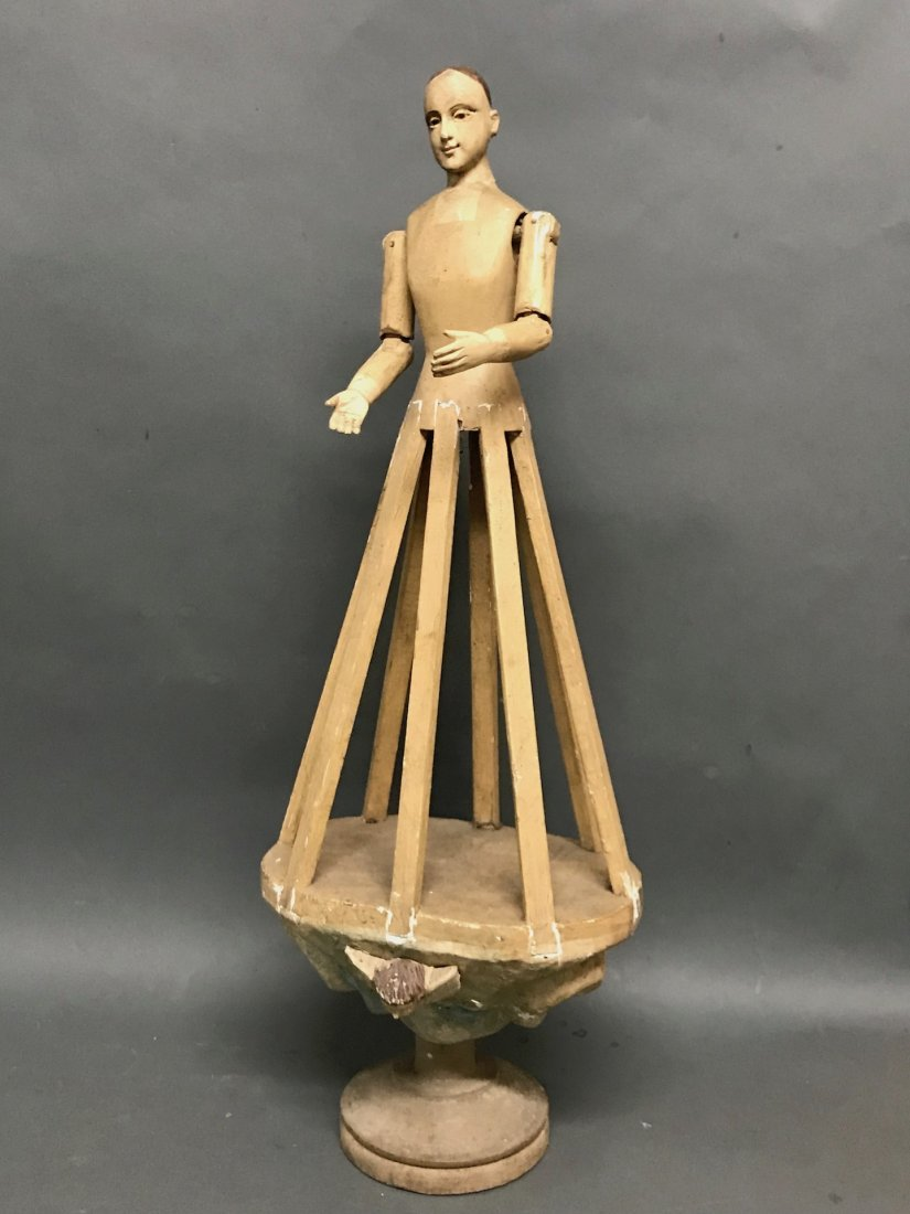 Carved Wood Mannequin Cage Doll-Bastidor - 4