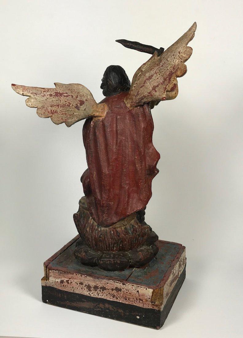 Carved Wood Saint Michael Archangel - 8
