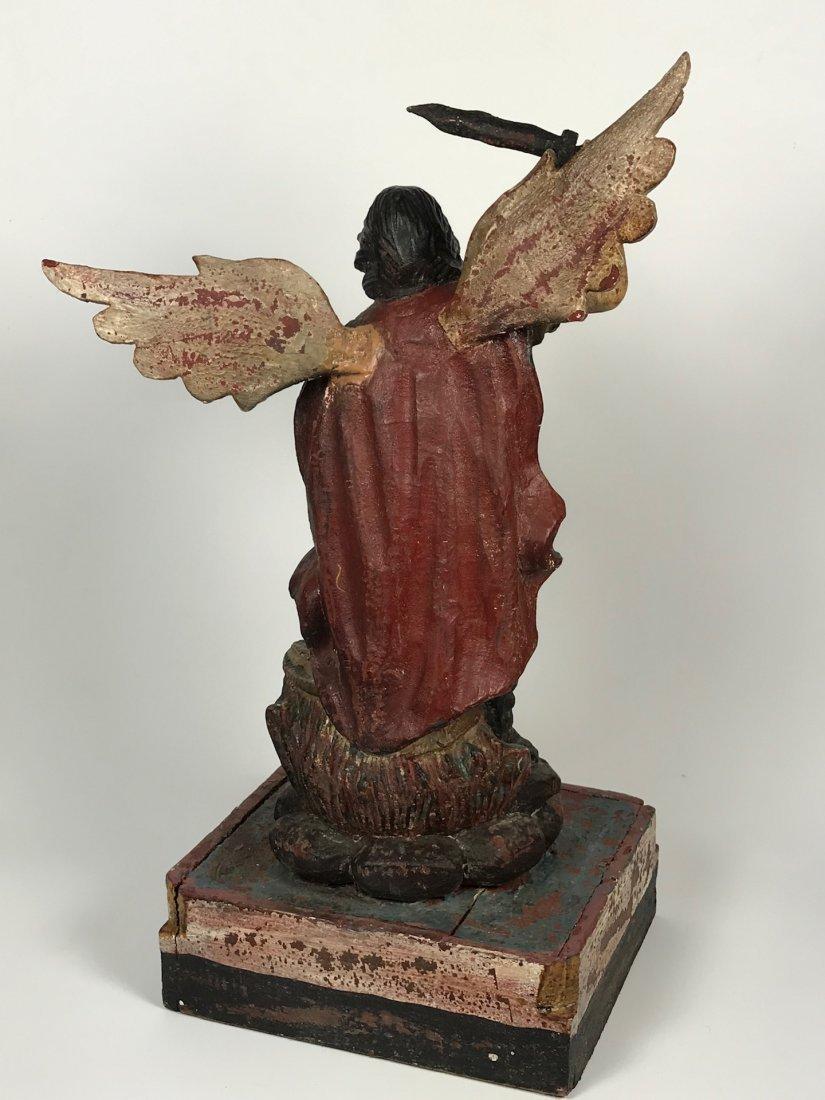 Carved Wood Saint Michael Archangel - 9