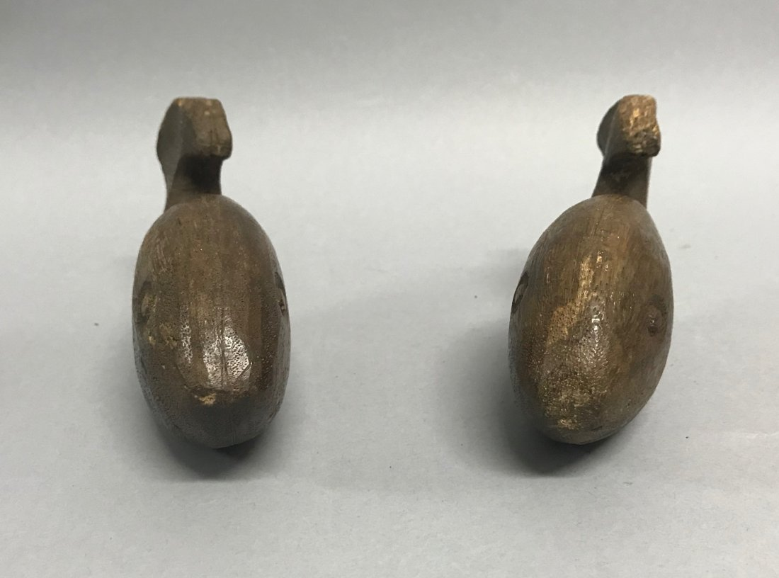 Carved Wood Pair of Fishes - 2