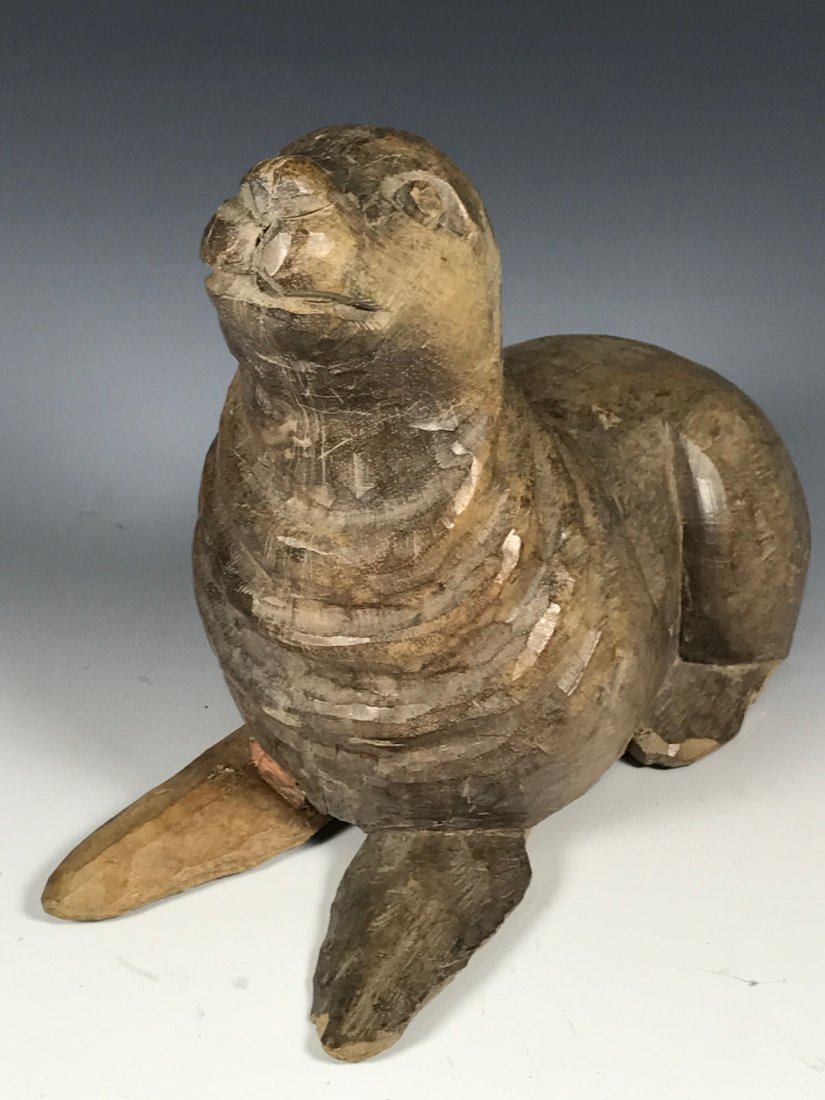 Carved Wood Sealion - 5