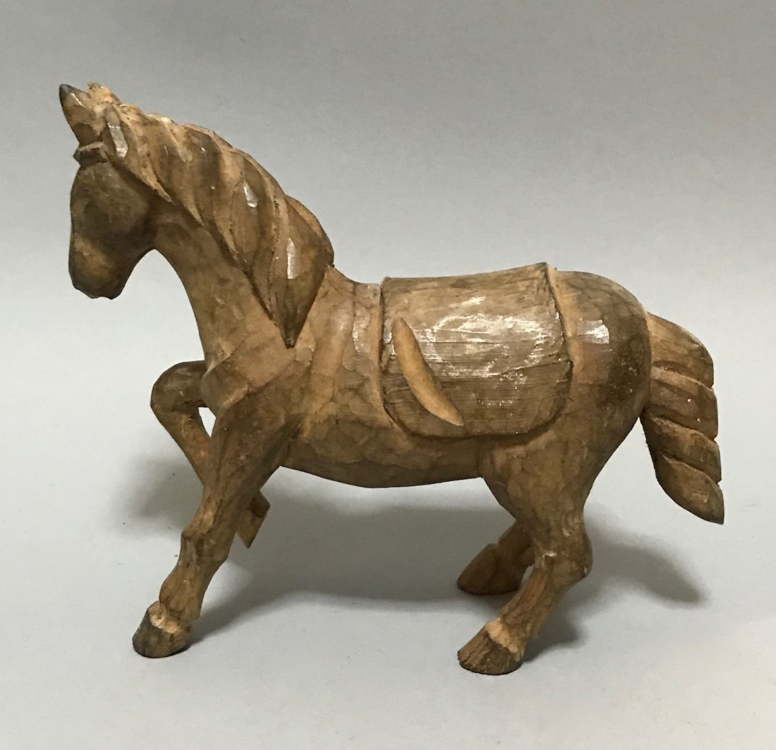 Carved Wood Horse - 2