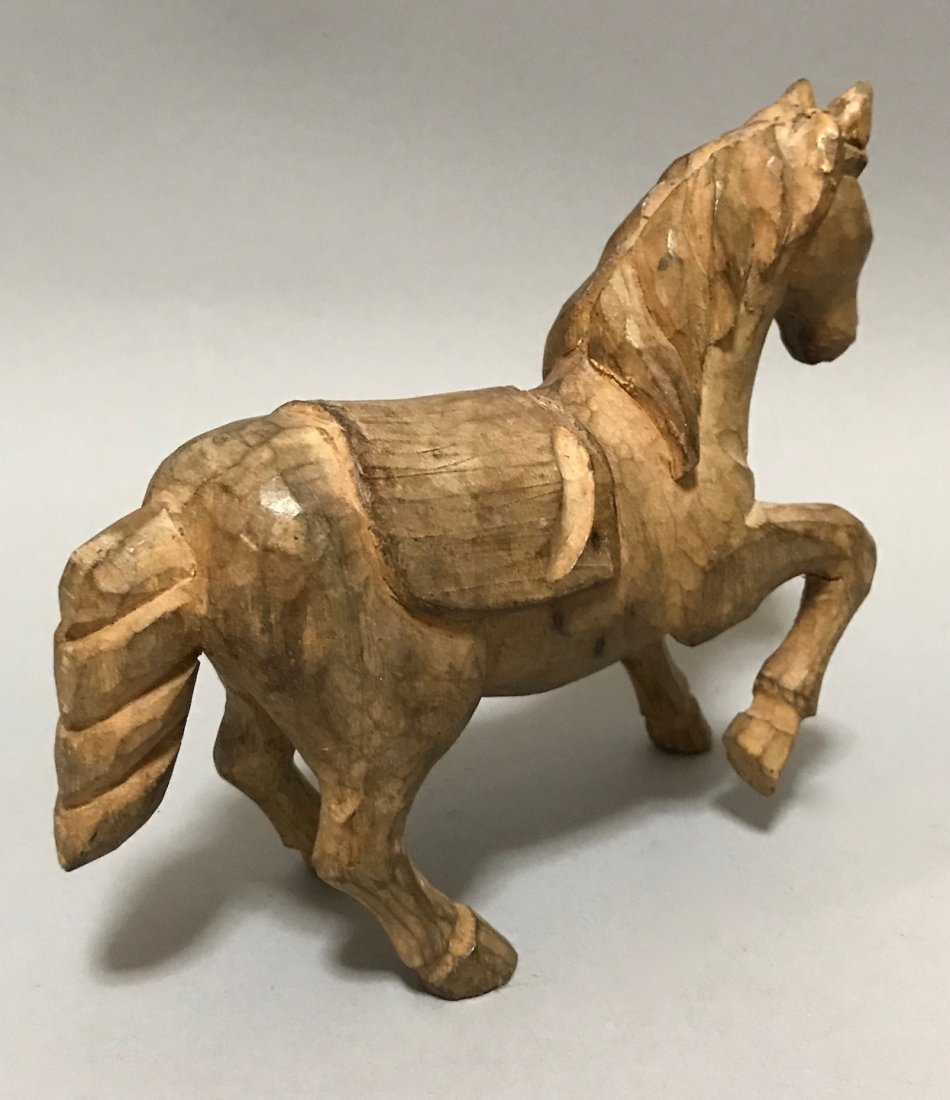 Carved Wood Horse - 4