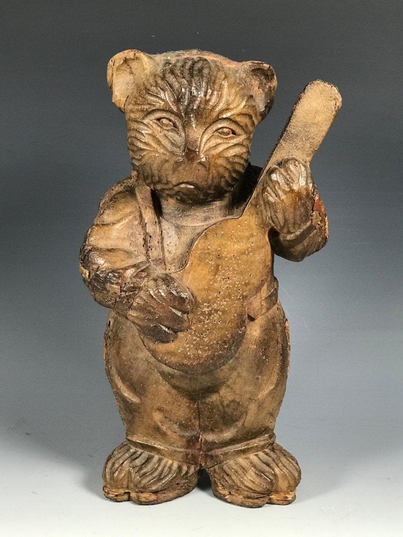 Carved Wood Bear