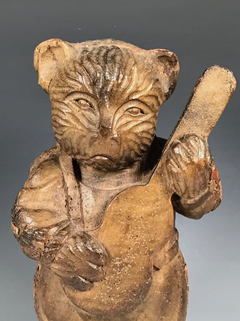 Carved Wood Bear - 2