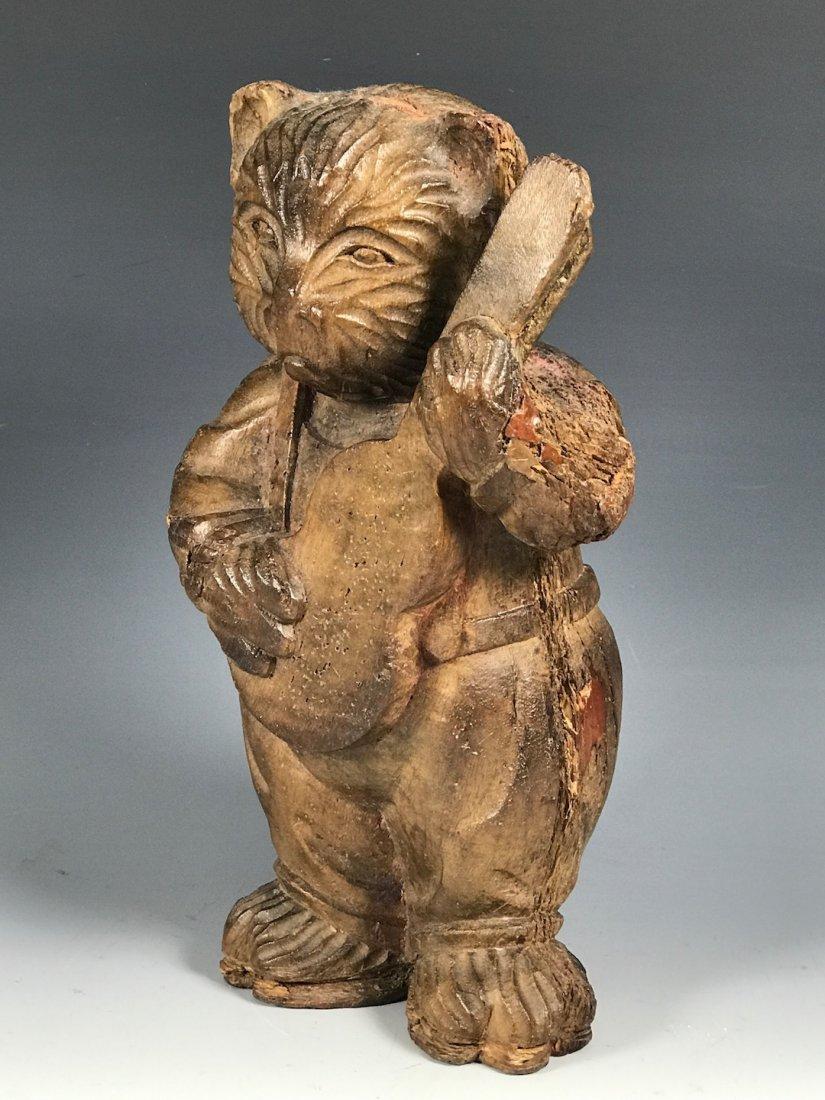 Carved Wood Bear - 4