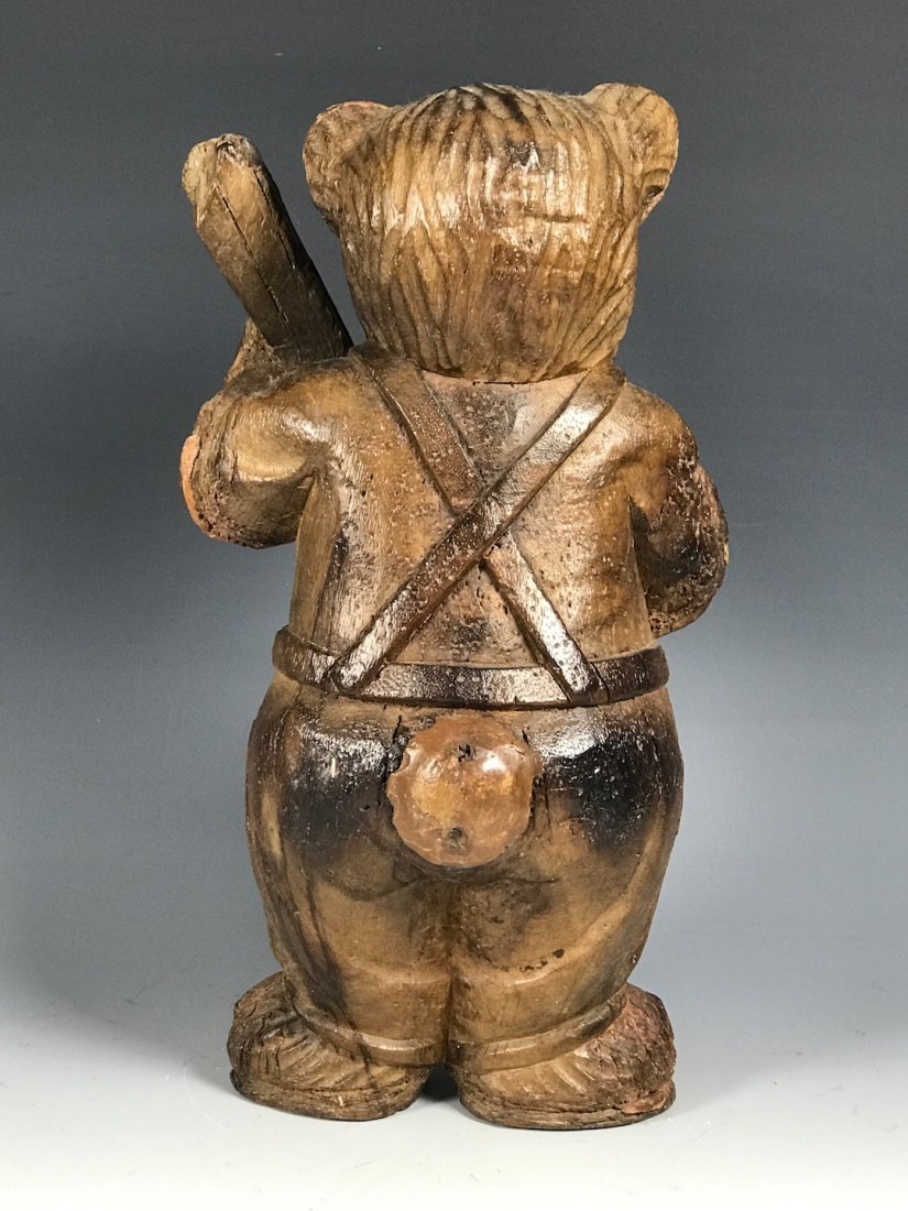 Carved Wood Bear - 5