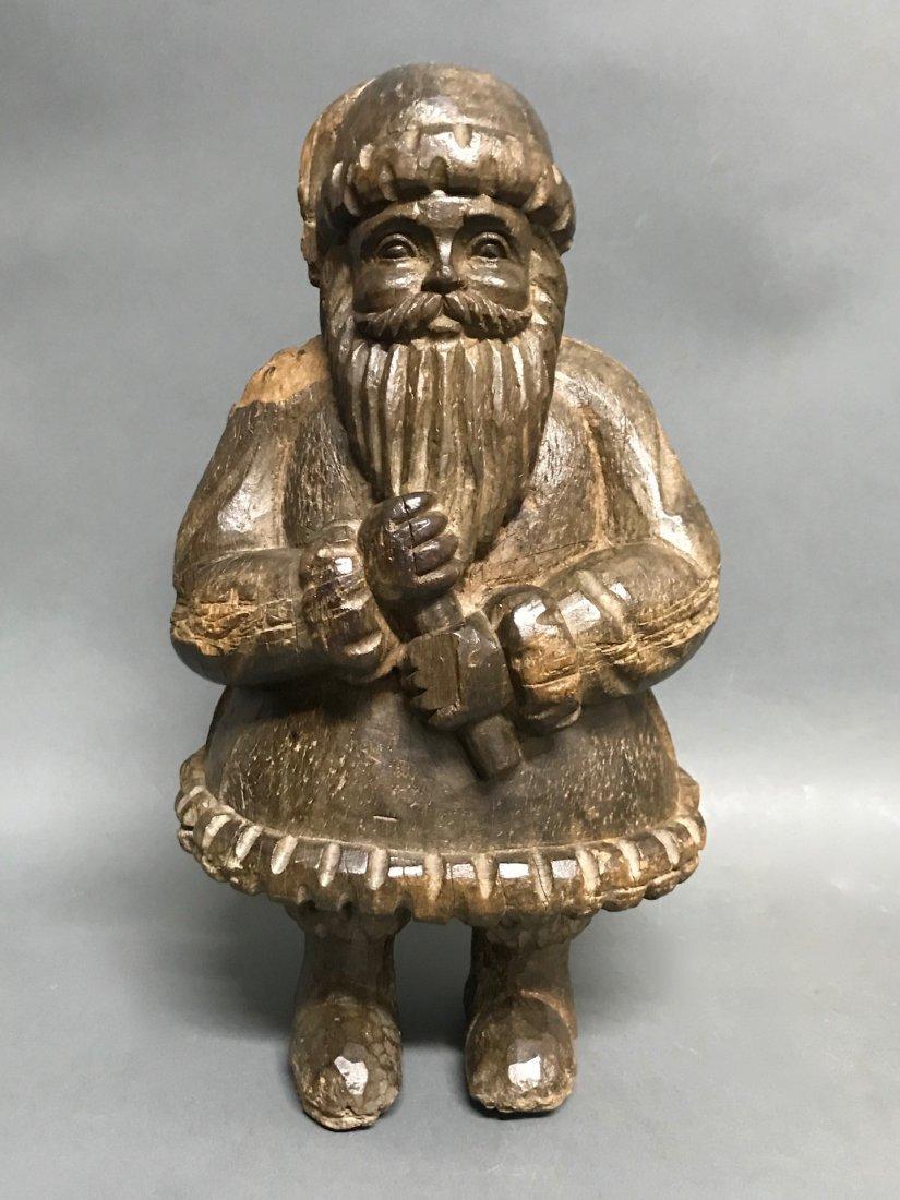 Carved Wood Santa Claus