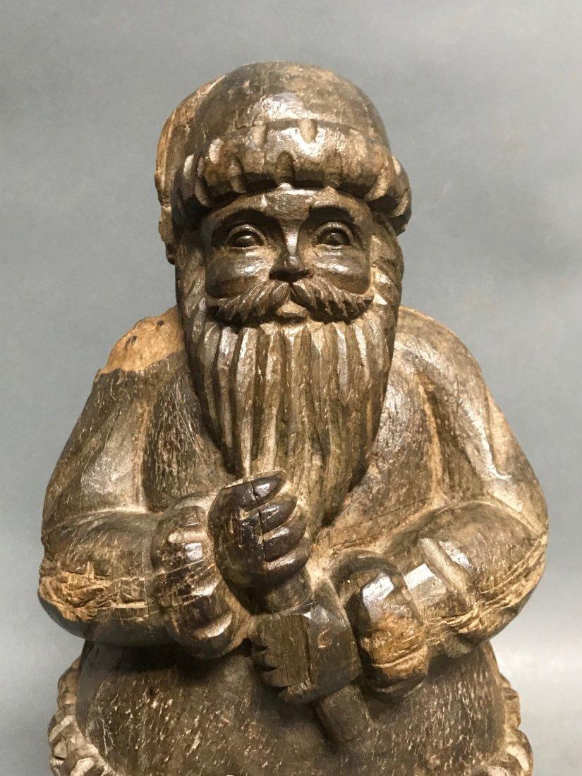 Carved Wood Santa Claus - 2
