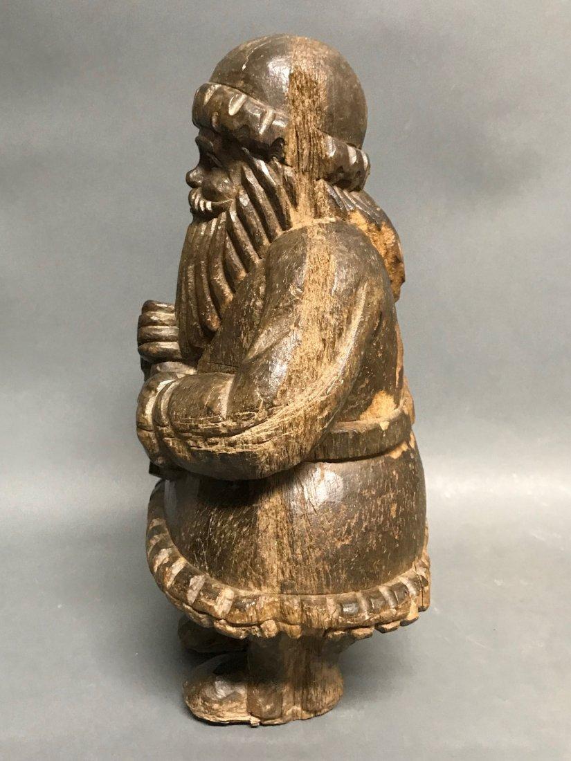 Carved Wood Santa Claus - 6