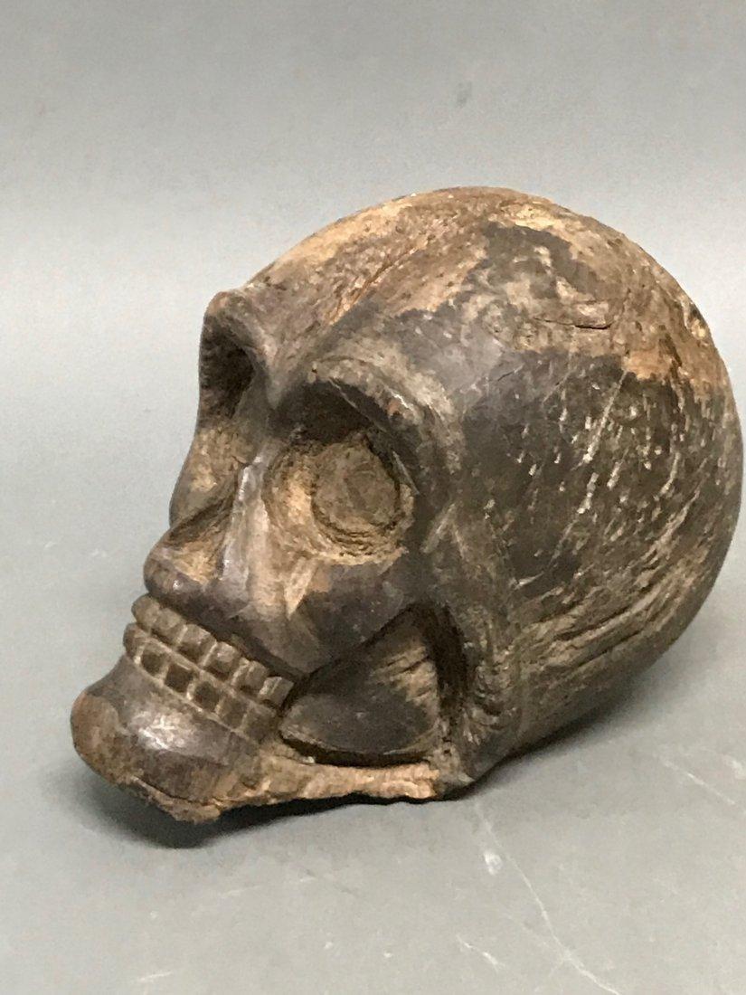 Carved Wood Skull - 5