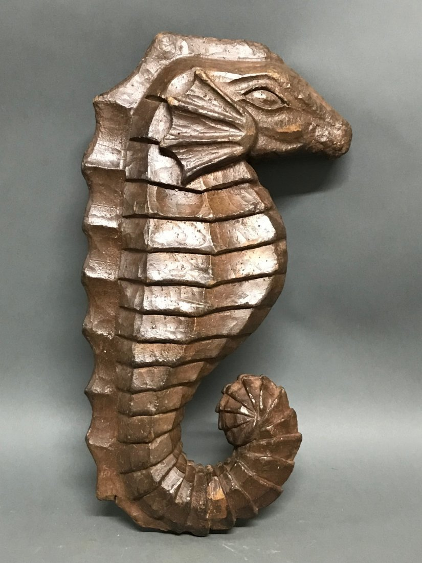 Carved Wood  Sea Horse