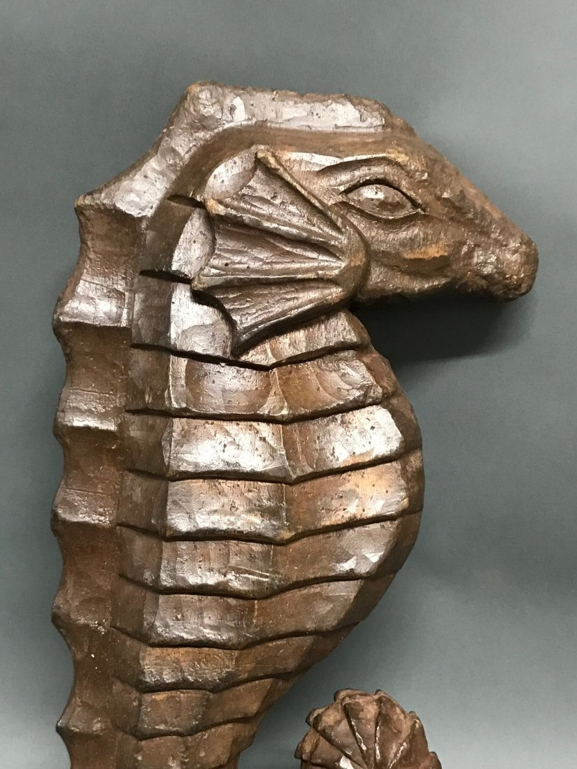 Carved Wood  Sea Horse - 2