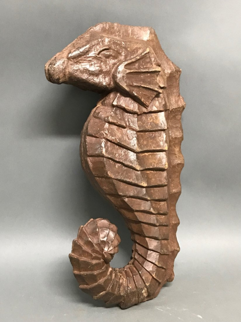 Carved Wood  Sea Horse - 5