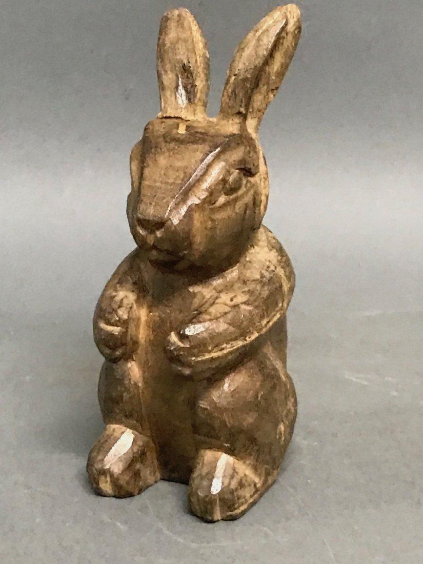 Carved Wood Rabbit - 5