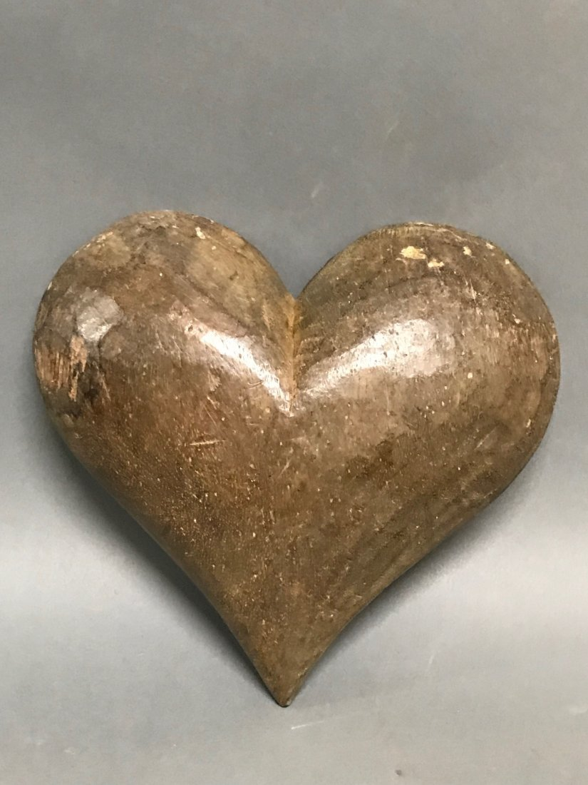 Carved Wood Heart