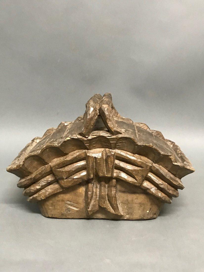 Carved Wood Basket